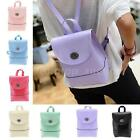 Women Mini Backpack Faux Leather Candy Color Bag Ladies Shoulder Bag Drawstring