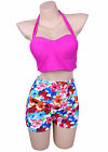 Two Piece Bikini Set Women Summer High Waisted Swimwear Beach Swimsuit Bathing