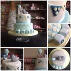 blue cake toppers