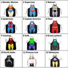 NEW ADULTS KIDS FUNNY APRON SUPERHERO ART CRAFT COOKING BARBECU BBQ PARTY