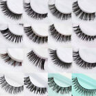 New 5 Pairs Handmade Natural Thick Long False Fake Eyelashes Eye Lashes Makeup