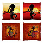 OzSeller AFRICAN THEME 'YOUR CHOICE' FIRM FEEL SCATTER CUSHION CASE 2 SIDE PRINT