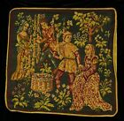 HARVEST COUPLES Piped SCATTER CUSHION COVER Medieval Tapestry 42cm sq