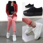 Womens Canvas Fashion Sneakers Platforms Wedges Heel Casual Sneakers