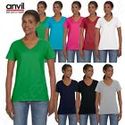 Anvil Women's Lightweight 100% Combed Cotton V-Neck T-Shirt M88VL
