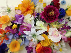 BIG Bundle Of Artificial Flower Heads/Holly *Ideal For Crafts/Card Making*