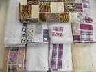 EXCITING!  Vintage cuts strips patchwork lace ruffle trimmed 100% cotton fabric