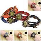 Charm Lady Woman Retro Vintage Leather Bracelet Butterfly Quartz Wrist Watch