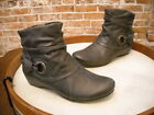 Bare Traps Suzee Dark Grey Wrap Detail Ruched Ankle Boots NEW