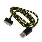 Durable 1M Hemp Rope USB Data&Sync Charger Cable Cord For iPhone 4 4S iPad2 3 OZ