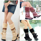 Women Winter Warm Flat Shoes Furry Balls Knee High Calf Snow Boots New Arrival