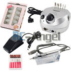 Professional Electric Nail File Drill Manicure Acrylic Pedicure Machine Bits kit