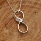 925 Sterling Silver Inspirational Infinity Love Lariat Pendant Necklace w Box