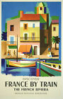 FRANCE BY TRAIN .. Vintage Travel/Promotional Poster  A1A2A3A4Sizes