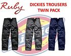 Dickies Trousers TWIN PACK! Redhawk Cargo Trouser Zip Pockets WD814 2 Pairs!
