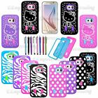 For Samsung Galaxy S7/S6 Heavy Duty  Hybrid Rubber Hard Protective Case Cover