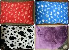 SUPER SOFT LUXURY FLEECE CUSHION LARGE PET FILLED DOG BED  WASHABLE COVER ONLY