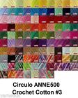 Circulo ANNE500 Crochet Soft Cotton Yarn Knitting Thread Variegated #3 500m 150g