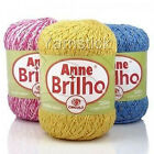 ANNE BRILHO - GOLD, SILVER, OWN, 500m 150g  Metallic Crochet Cotton Yarn Size 3