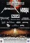 SONISPHERE FESTIVAL 2009 Metallica Linkin Park PHOTO Print POSTER Lamb Of God 09