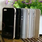 Top Aluminium Alloy Frame Tempered Glass Skin Case Cover for Apple iPhone 5 5S