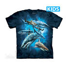 THE MOUNTAIN SHARK WEEK COLLAGE OCEAN SEA ANIMALS YOUTH KIDS TEE T SHIRT S-XL