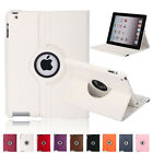 360 Rotating Leather Case Smart Stand Holder Cover for Apple iPad 2nd 3rd 4th