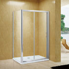 Sliding shower door glass+Side Panel+Stone Tray+Waste+free next day delivery
