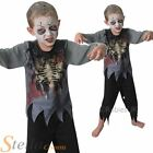 Boys Zombie Fancy Dress Costume Halloween Horror Undead Kids Childs Outfit