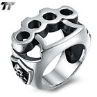 High Quality TT 316L Stainless Steel Knuckle Skull Ring Size 7-14 (RZ133) NEW