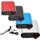 Pro New Mini LCD Digital Tattoo Power Supply Silvery,Blue,Red Color Kit