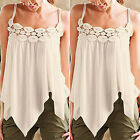 Sexy Women Summer Vest Lace Sleeveless Blouse Casual T-Shirt Tank Tops