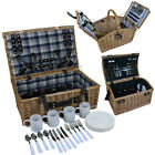 Marko Outdoor 2 4 Person Picnic Baskets Food Hampers Inc Plate Cup Glass Cutlery