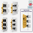 1 / 2 WAY CONCEALED THERMOSTATIC BAR SHOWER MIXER VALVE CHROME SOLID BRASS