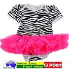 BNWT  PINK Cute Baby Girl Infant Toddler Tutu dress skirt Romper Bodysuit Onesie