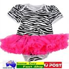 BNWT  PINK Cute Baby Girl Infant Toddler Tutu dress skirt Romper Bodysuit