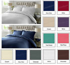 300TC 100% Cotton Duvet Quilt Cover Bedding Set PillowCases Single Double King