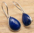 925 Silver Plated Real LAPIS LAZULI  Other Gemstone Variation Earrings
