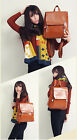 New Vintage Retro Flap Women's Leather Backpacks College Wind School Bag
