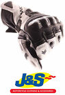 FRANK THOMAS FT2 LEATHER MOTORCYCLE GLOVES MOTORBIKE GLOVE WHITE RACING J&S