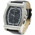 FW077B New NATURAL Black Band PNP Shiny Silver Watchcase BIG DIAL Fashion Watch