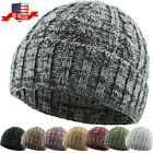 Cable Knit Beanie Ski Cap Skull Hat Warm Solid Winter Cuff New Blank Heather