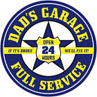 Dads Garage Service Wall Decal Yellow Garage Removable Decor