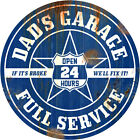 Dads Garage Wall Decal Rusted Blue Garage Removable Decor