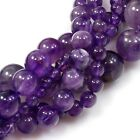 """Natural AA Purple Amethyst Round Beads 15"""" 6, 8, 10mm Pick your size"""