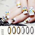 3pcs/set Nail Art Rolls Striping Tapes Line Gold Silver Tips 1mm/2mm/3mm