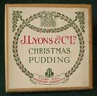 VINTAGE 1930s/1950s J. LYONS & CO. LTD. CHRISTMAS PUDDING EMPTY BOX ADVERTISING