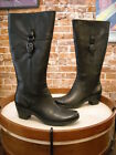Clarks Black Leather Ingalls Vicky Buckle Tall Shaft Boot NEW