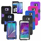 For Samsung Galaxy Note 5 N920 Hybrid Armor Skin Hard Case Cover Stand+Film