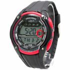 DW441B Black Watchcase Chronograph Date BackLight Water Resist Red Digital Watch